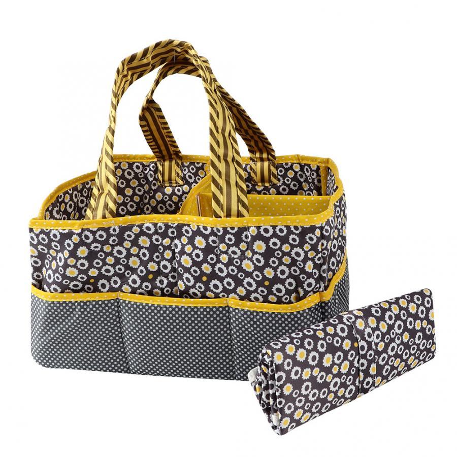 Storage-Basket Diaper-Changing-Mat Travel-Bags Baby-Diaper Bagfolding Waterproof Portable