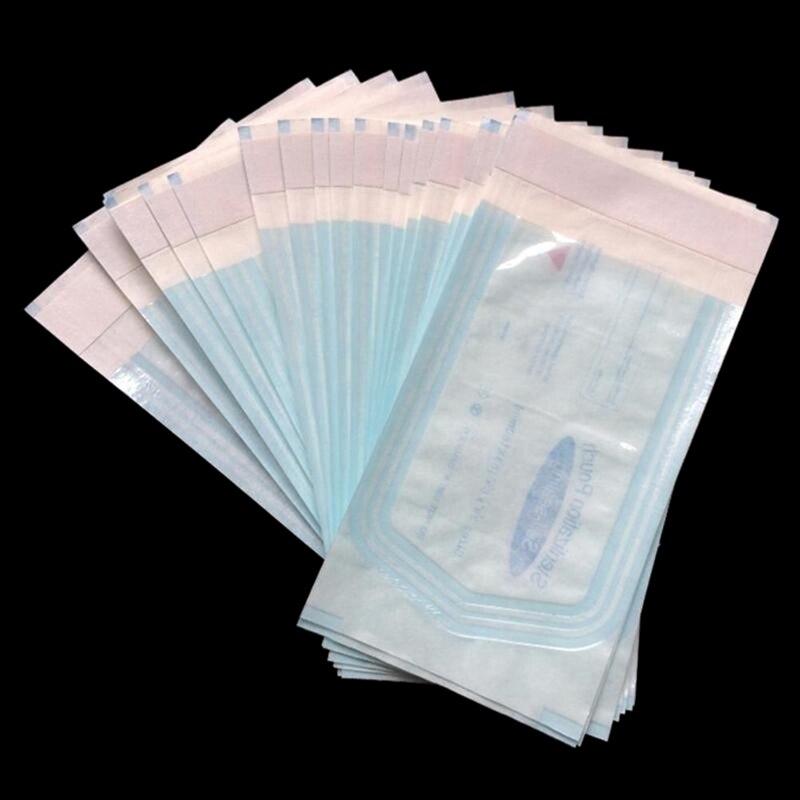 200 Pz/pacco Autosigillante Sterilizzazione Borse Multiuso Borse Di Grandi Dimensioni Sacchetto Di Grado Medico Usa E Getta Dentale Del Tatuaggio Strumento Di Borse Contenitore