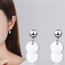 Модные серьги гвоздики круглые для женщин корейские ювелирные