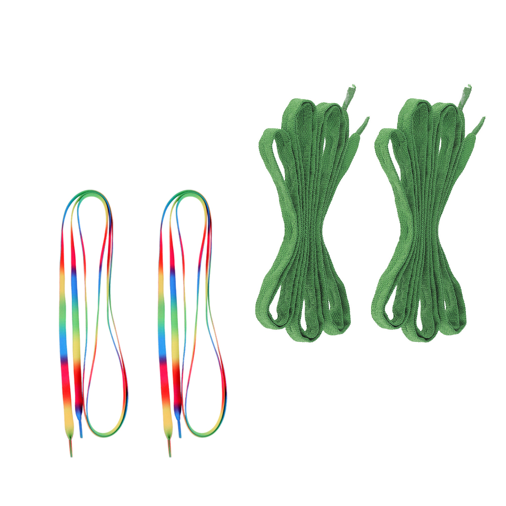 2 Pairs Non-skid Ice Hockey Skates Skate Boots Shoelaces Laces Skating Parts 180cm Long