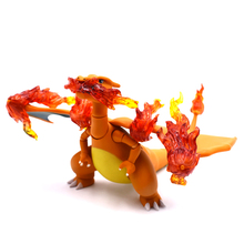 Hot 10cm Pikachu Go Charizard Movable Collection Action Figure Toys Christmas Gift Doll Free Shipping