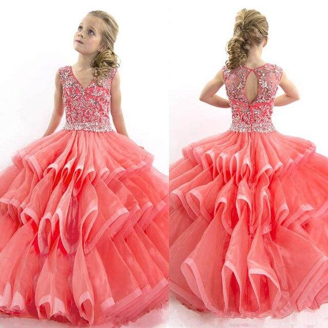 Vestidos de fiesta 2015 largos color coral