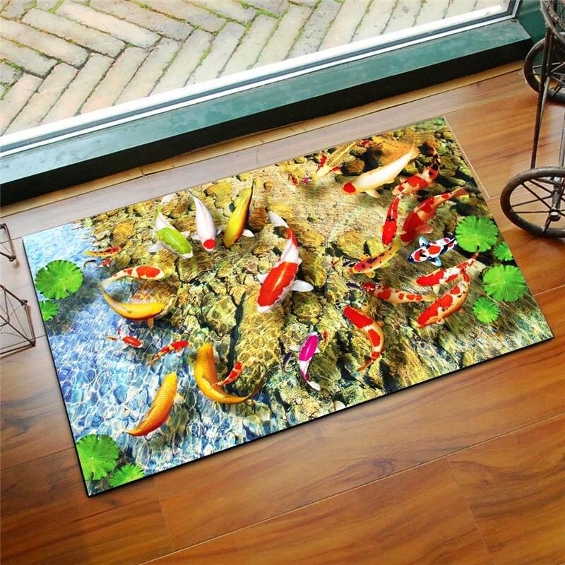 3D Printed Non-slip Bath Mat Bathroom Rugs Mats, Home Decor Floor Mats Doormat, Bathroom Kitchen Carpets Toilet Tapete Alfombra