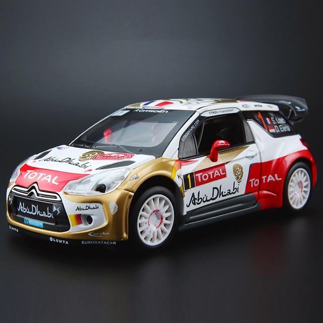 1:32 Schaal Simulatie DS3 Legering Model Auto Diecast Voertuig Speelgoed Met Geluid Licht Metalen Auto Rally Racing Speelgoed Auto Voor kid Geschenken