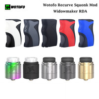 Original Wotofo Recurve Squonk Mod Box Electronic Cigarette & Widowmaker RDA Tank without 18650 20650 20700 21700 e cig
