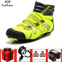 Tiebao Winter Road Fietsen Schoenen Voegen Pedaal Set Ademend Outdoor Athletic Fiets Schoenen Fiets Racing Schoenen Ciclismo Zapatos-in Wielersport schoenen van sport & Entertainment op