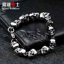 Нержавеющая сталь новый дизайн мужчины Punk Череп браслет-цепочка моды для мужчин из нержавеющей стали браслет ювелирные изделия