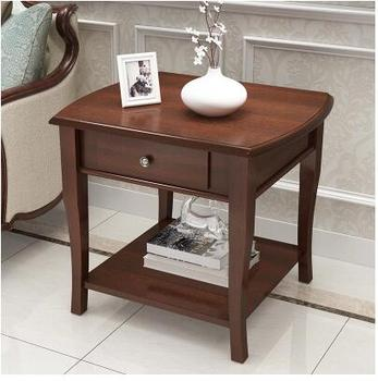 American solid wood sofa side table simple living room small coffee table telephone table.