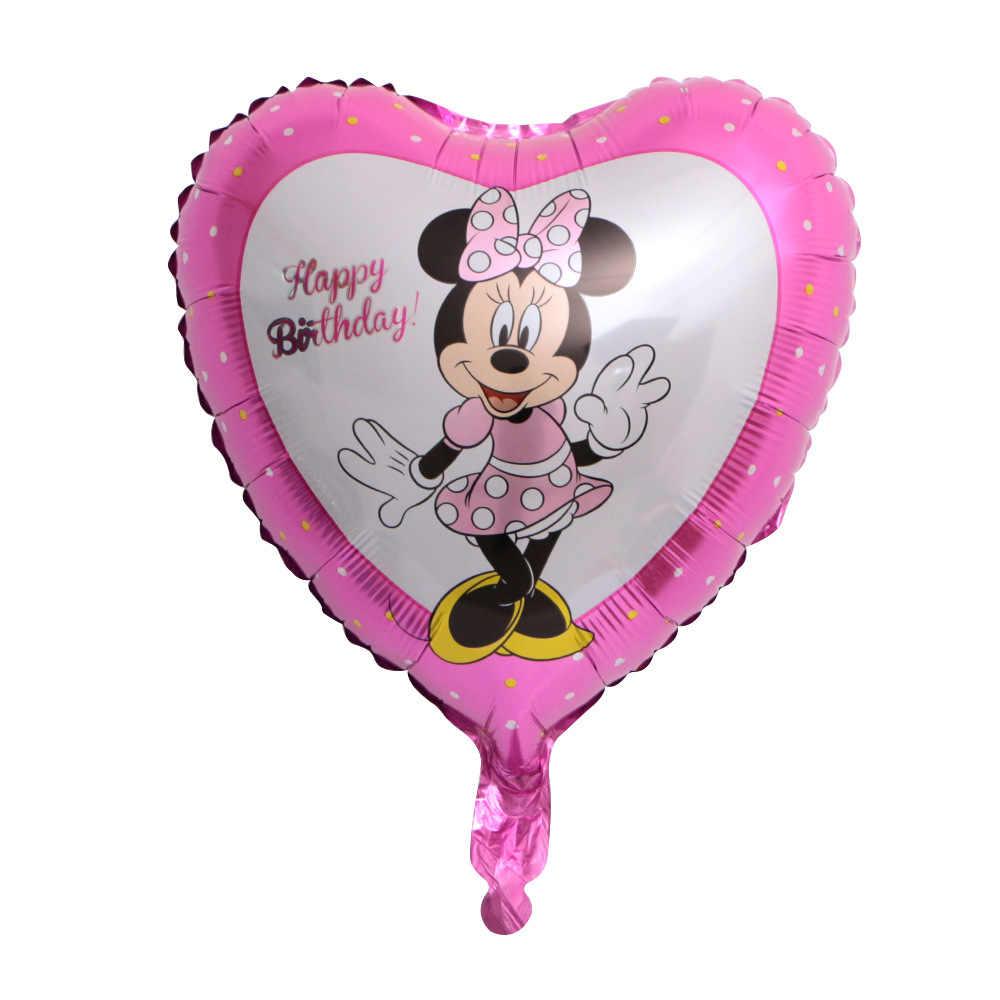 Baru 1 Buah 18 Inch Disney Mickey Minnie Mouse Gambar Balon Anak-anak Bayi Ulang Tahun Dekorasi Balon Anak-anak MINI Mickey Mainan hadiah