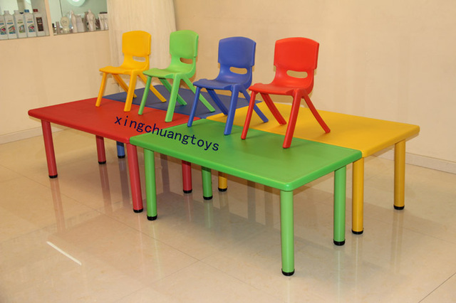 Nursery furniture tables and chairs child plastic rectangle tables and chairs long table chair adjustable & Nursery furniture tables and chairs child plastic rectangle tables ...