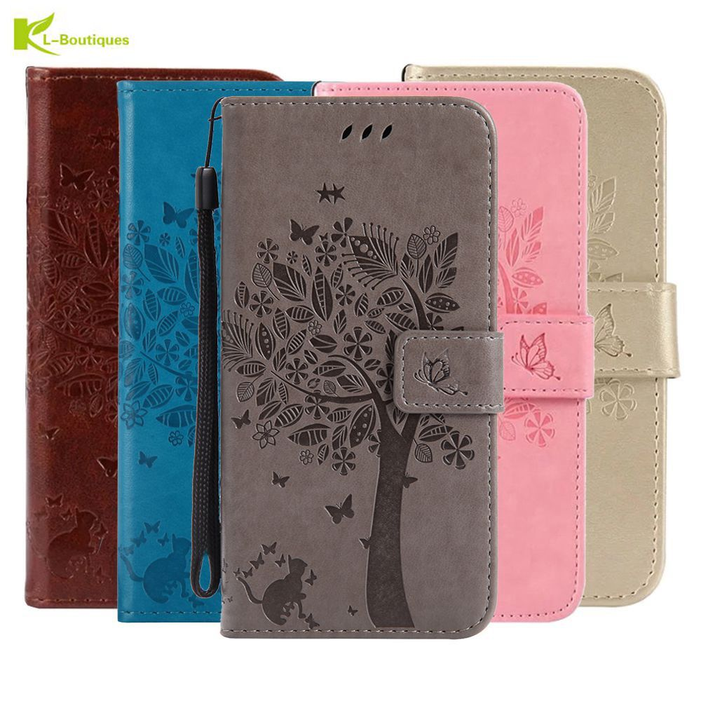 3D θήκες τηλεφώνου για Huawei P20 P8 P9 Lite Mini P10 Plus P Smart Y3 Y5 Y6 II 2017 Mate 9 10 Pro GR3 Case Leather Flip Wallet Cover