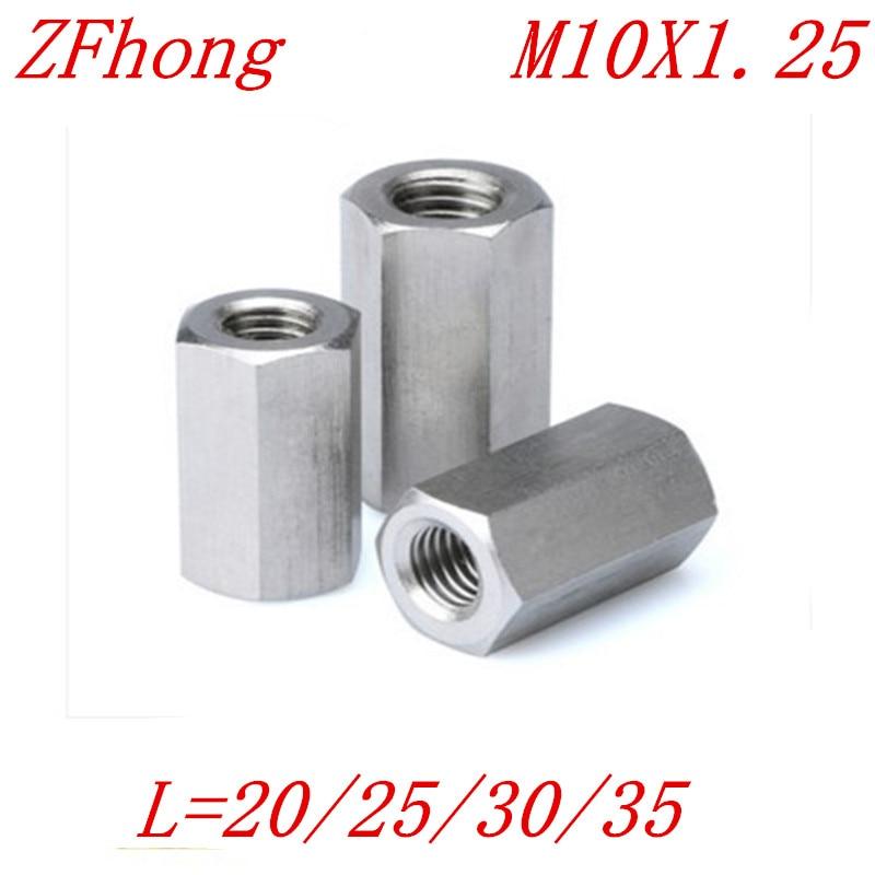 5pcs M10*1.25x20/25/30 M10x1.25 Fine Thread Hex Rod