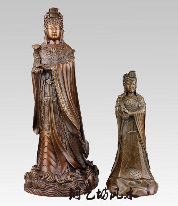 2020  HOME  OFFICE  Efficacious Talisman House Protection Mazu Goddess Matsu  Goddess Of The Sea Bronze Art Statue Decoration