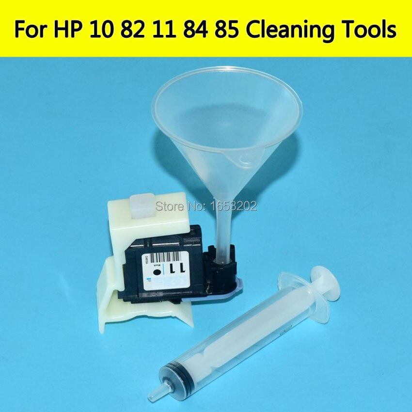 ¡ Caliente! Hp11 cabezal de impresión unidades de limpieza para HP 84 85 Utensilios de limpieza para HP Designjet 500 800 510 130 815 impresora