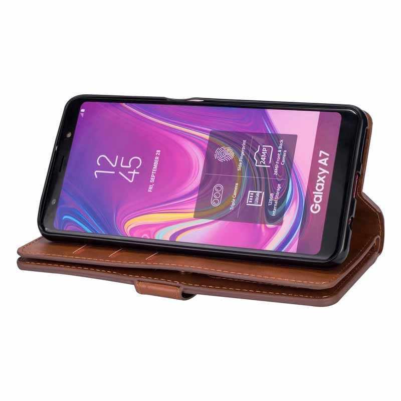 Ретро бумажник с застежкой-молнией для samsung S7 S8 S9 S10 note10 Note8 Note9 J3 J5 J7 A3 A5 2017 J3 J4 J7 J6 A6 J8 A750 2018 крышка чехол для телефона