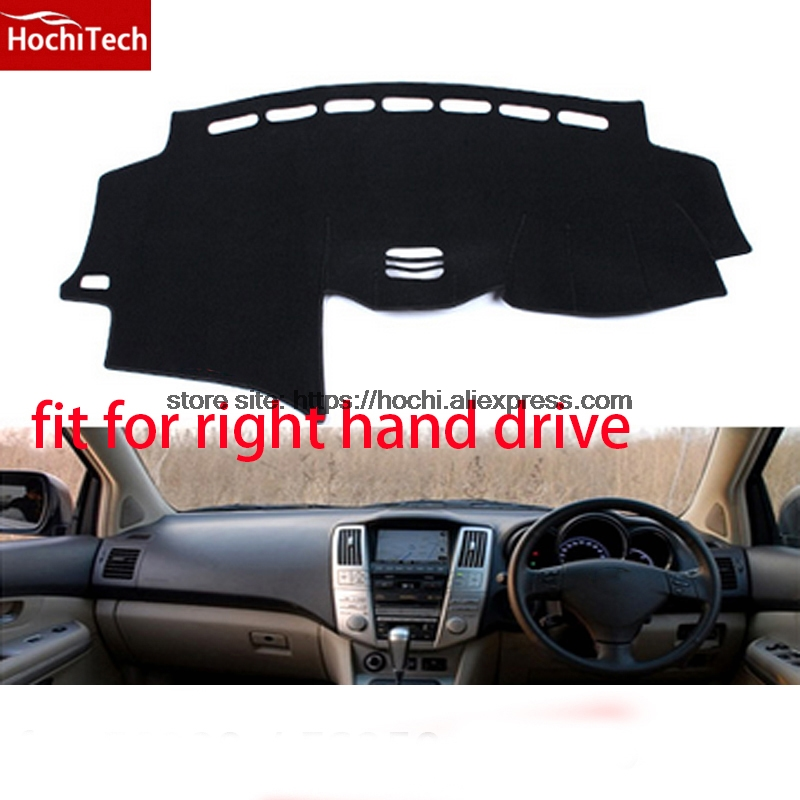 For lexus RX300 RX350 RX400 right hand drive dashboard mat Protective pad car-styling Interior Refit sticker Mat products for toyota prius 2012 2013 right hand drive dashboard mat protective pad black car styling interior refit sticker mat products