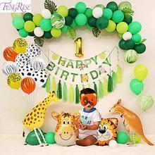 FENGRISE Animal Ballon Jungle Safari Party Balloon 0 1 2 3 4 5 6 7 8 9 Number Figure Birthday Supply