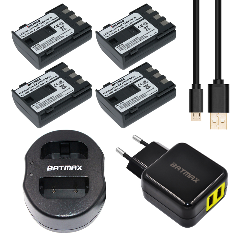 4pc Nb 2l Nb 2l Nb 2lh Battery Usb Dual Charger For Canon