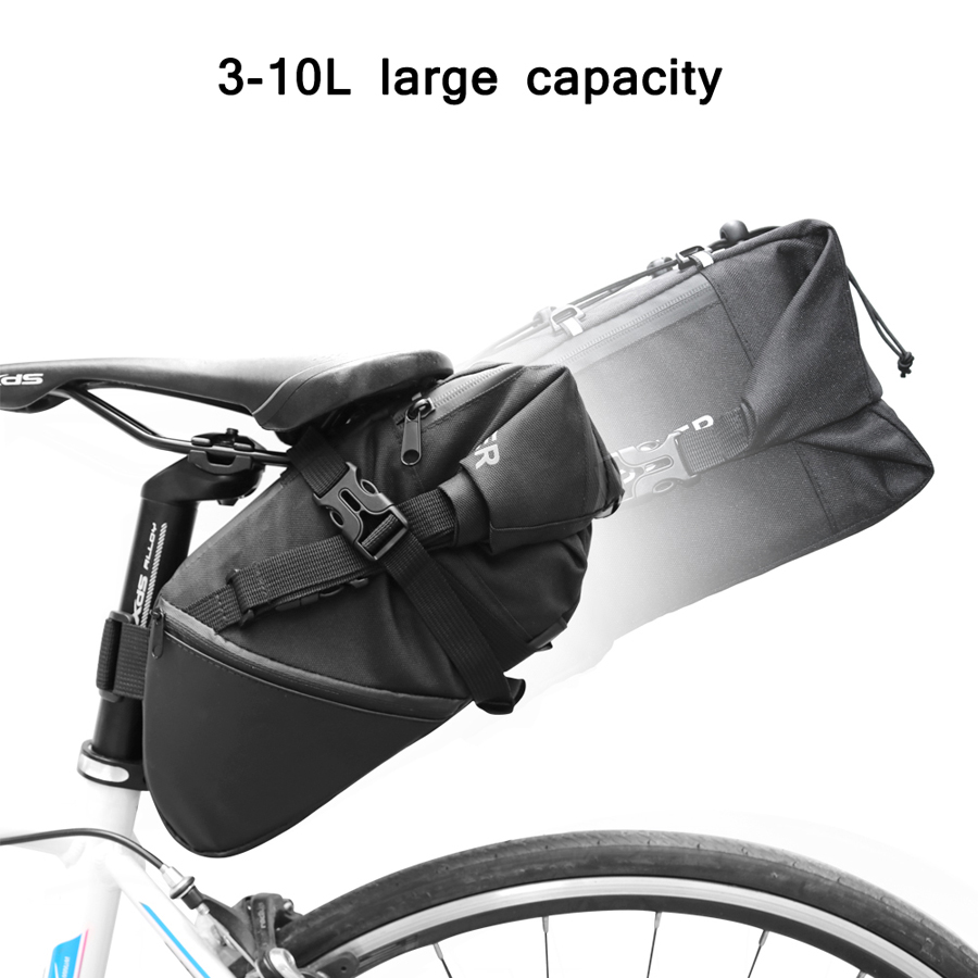 NEWBOLER 3L Bike Saddle Bag Rainproof TPU MTB Bicycle Rear Bags Seat Tail Bag