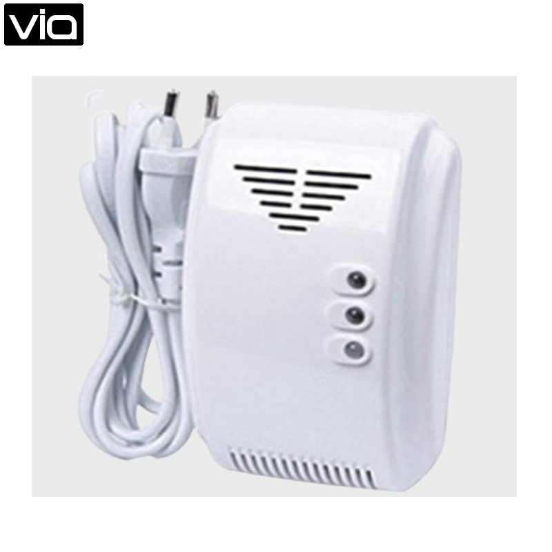 ALF-G011 Free Shipping Wired Networking Home Security Alarm LPG Natural Gas Leak Detector