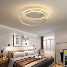 Minimalism modern LED ceiling lights black/white aluminum lamp living room bedroom lamparas de techo colgante