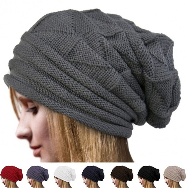 fe0aab1c054 Brand Fashion Winter Hat Men And Women Beanie Knitted Casual Caps Skullies  Fold Flanging Hats Chapeu Feminine Gorro Touca Cap