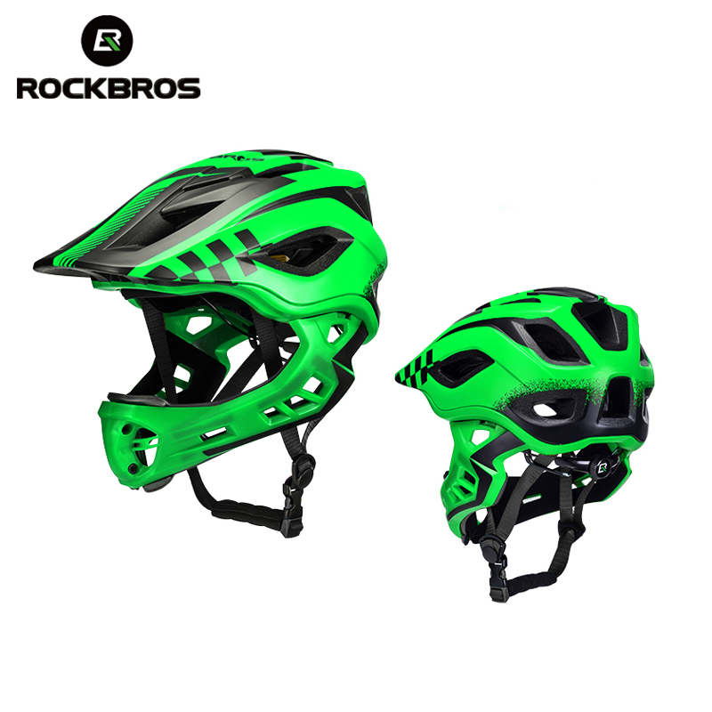 ROCKBROS Cycling Bike Kind Helmet Full Covered Child Helmet EPS Parallel Car Children Helmet 2 In 1 Sport Safety Riding Helmets(China)