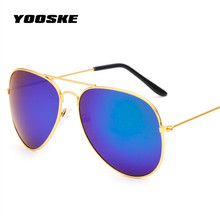 YOOSKE Aviation Sunglasses Men Women Brand Designer Feminine Sun Glasses Male Female Womens
