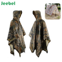 Jeebel Multifunctional Camo Raincoat Military Impermeable Waterproof Rain Coat Men Women Camping Fishing Motorcycle Rain Poncho