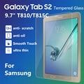 Venta caliente de Alta Calidad Ultra delgado de 0.3mm 9 H Vidrio Templado para samsung galaxy tab s2 9.7 t810 t815c protector de pantalla transparente película