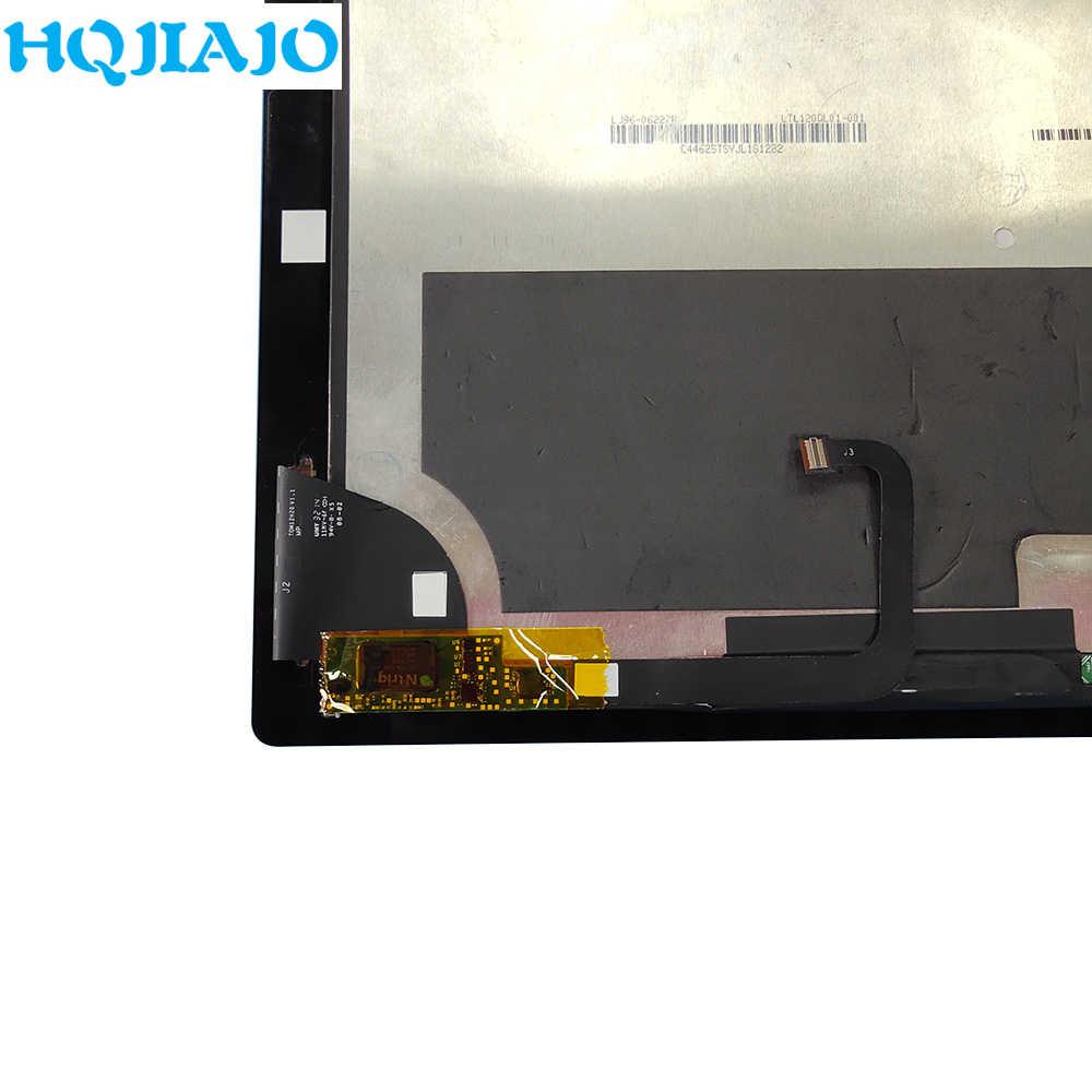 قرص شاشات الكريستال السائل والألواح لمايكروسوفت السطح برو 3 Pro3 (1631) شاشة إل سي دي باللمس قطع غيار للشاشة TOM12H20 V1.1 LTL120QL01 003