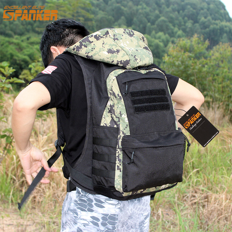 9f3d71b89ff1 EXCELLENT ELITE SPANKER Tactical Outdoor Hunting Military Removable Hoodie Backpack  Military Climbing Hiking Camping Sports Bag - aliexpress.com - imall.com