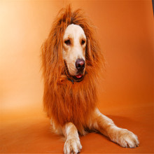 d40dacdff AHUAPET Dogs Dress Up Costume Wig Emulation Lion Hair Mane Lion Hair Mane  Ears Head Cap