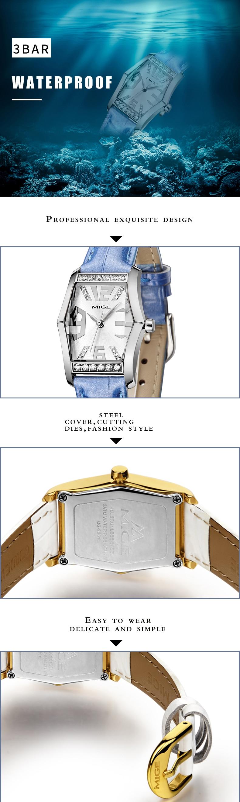 senhoras relógio à prova dwaterproof água relógios quartzo feminino