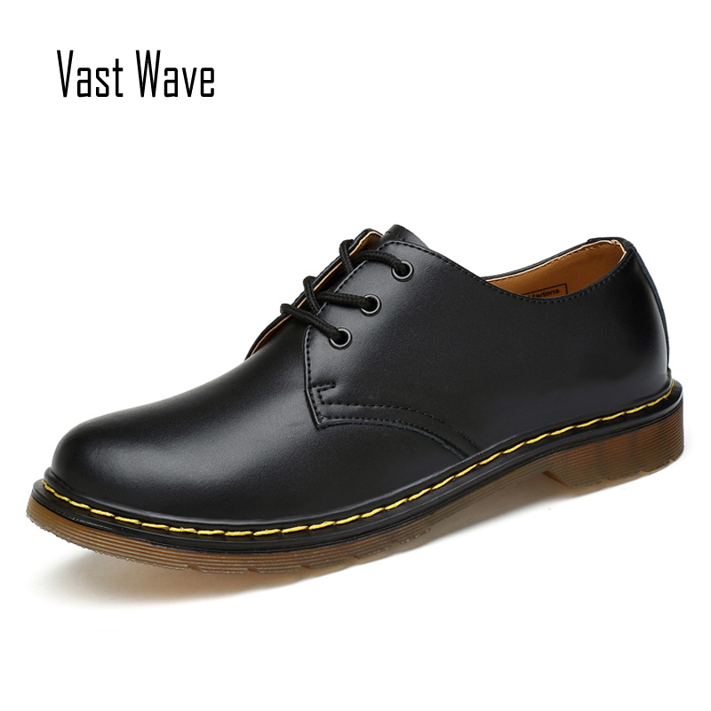 Big Size Brand 1461 Breathable Men's Oxford Shoes Dress Shoes Men Flats Fashion Genuine Leather Casual Shoes Work Shoes