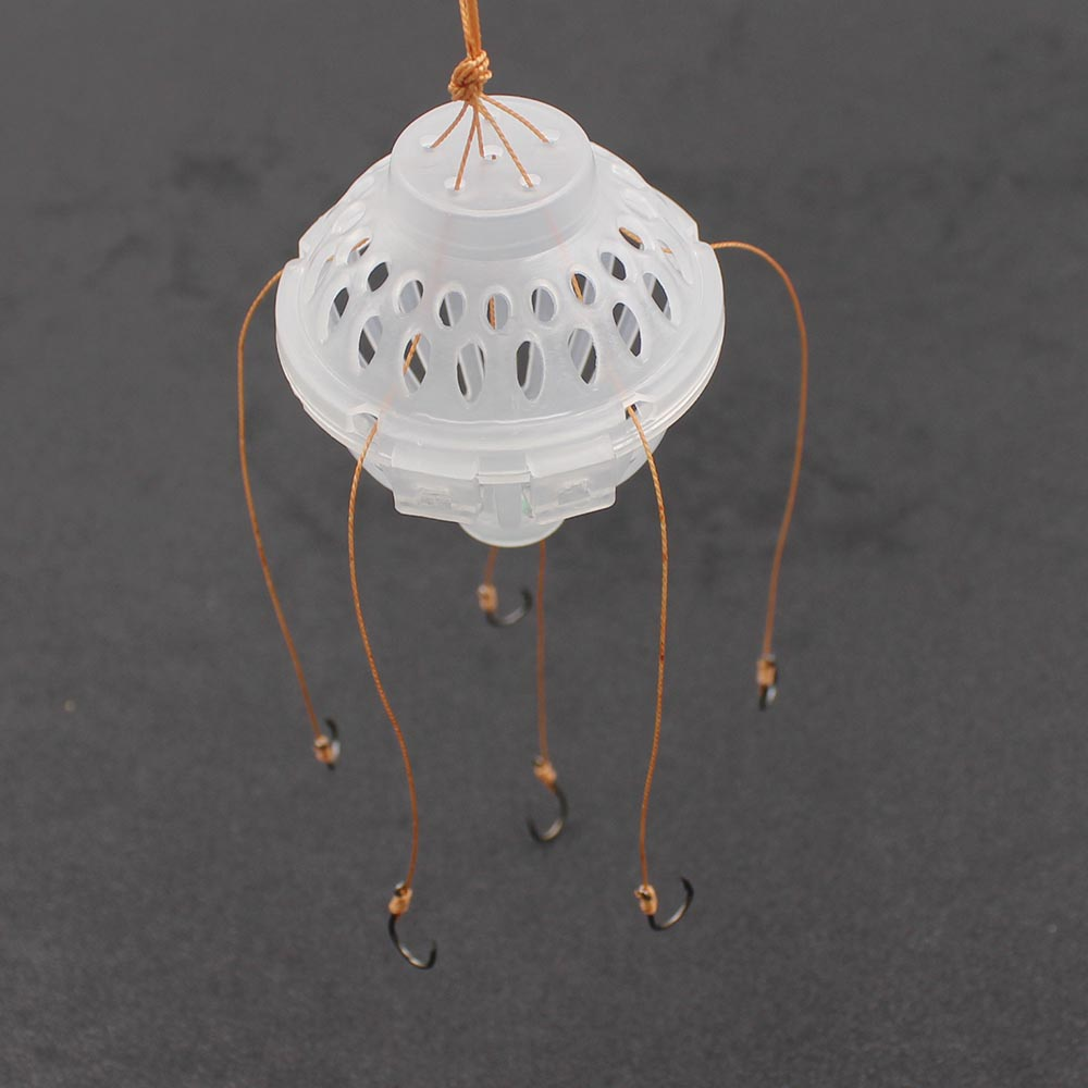 Pecsa Hooks 6 in 1 Lantern Bait Case Barbed Explosion Winter Carp Fishing Lure China Jig Feeder Spoon Hook Fly Fishing Tackle