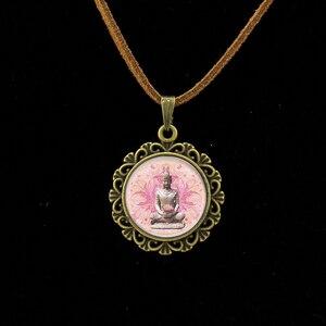 Image 3 - קולייר Collares מקסי שרשרת Om יוגה מוסלמי זן שרשרת המנדלה דתי תרבות תכשיטי חינה בודהיזם מדיטציה תליון