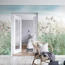 Весь дом на заказ Рид сад ручная роспись фон стены профессиональное производство Настенные обои на заказ плакат фото стены
