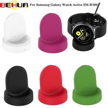 Base de carga inalámbrica, Base de carga rápida con indicador para Samsung Galaxy Watch Active SM-R500, accesorios para reloj inteligente