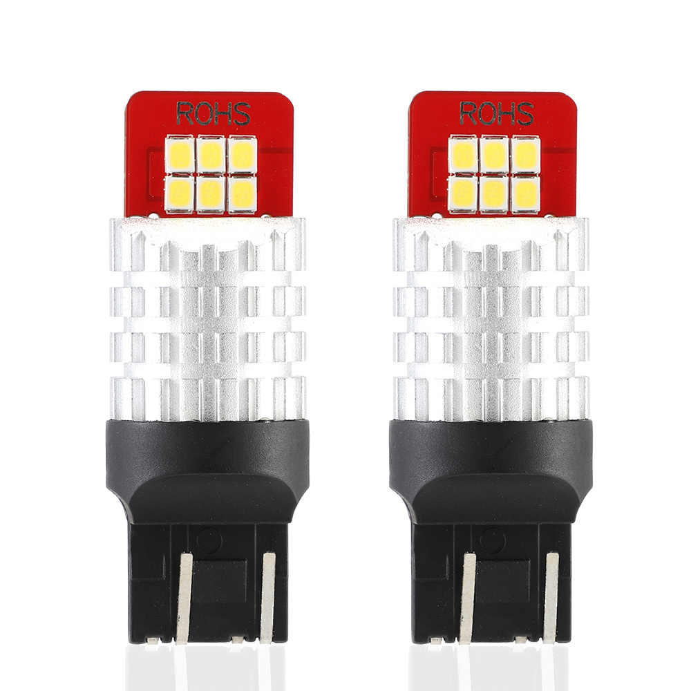 NOVSIGHT 2Pcs 7443,T20,W21/5W LED Bulbs For Turn Signal Lights Auto Lamp White Reverse Light Brake 12V