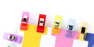 Image 3 - 50pcs/lot Tape Bias Maker DIY Job Foot Case Supplies Plastic Clip Hemming Sewing Tools Sewing Accessories Fabric GYH