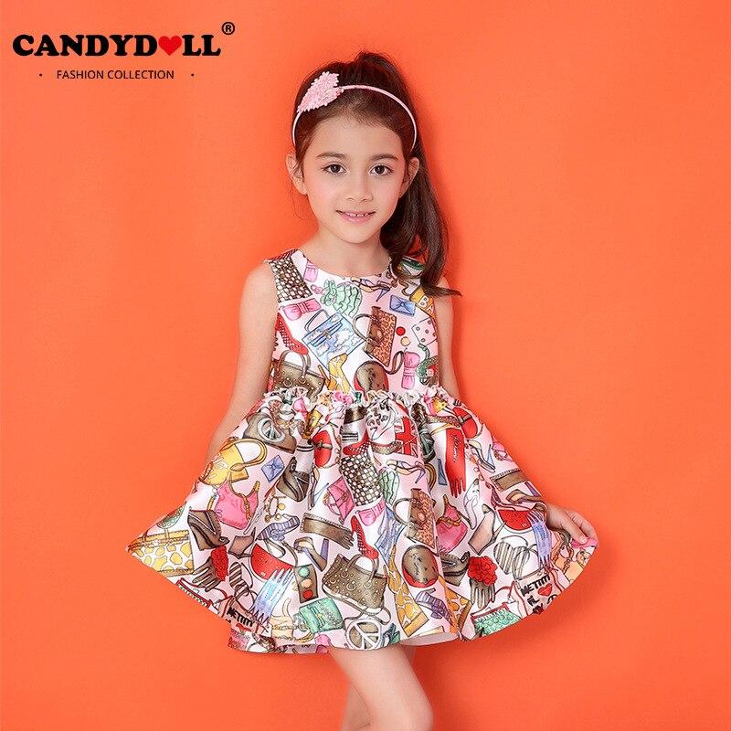 Candydoll Children Baby Girls Dresses Cotton Long sleeve