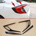 Carbon Fiber Taillight Cover For Honda Civic Sedan 2016 2017 10 Generation Tail Lamp Strips Accessories