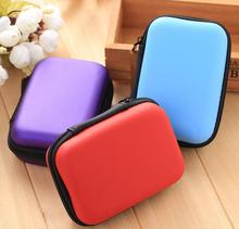 Buy Rectangular waterproof headphone bag data cable storage bag replacement key bag coin case zip file sundry lipstick cosmetic case directly from merchant!