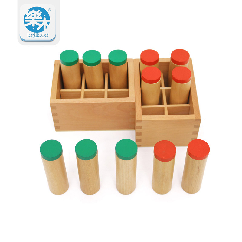 Montessori Sound Boxes Wood Toy Kids Toys Hearing auditory sense Educational Toys School Kindergarten Teaching Tools iso sound auditory mediation model acoustoelectric control human hearing model
