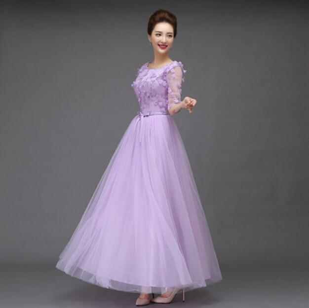 0585c6cfa7df5 Güzel leylak sevimli resmi ucuz uzun tül puf dress gelinlik modelleri mavi  özel durum elbise 2017