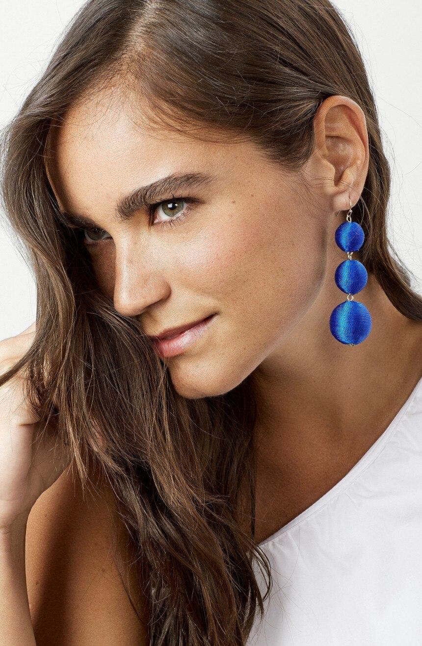 Legenstar Thread Ball baumeln Ohrringe für Frauen Pom Pom Drop - Modeschmuck - Foto 5