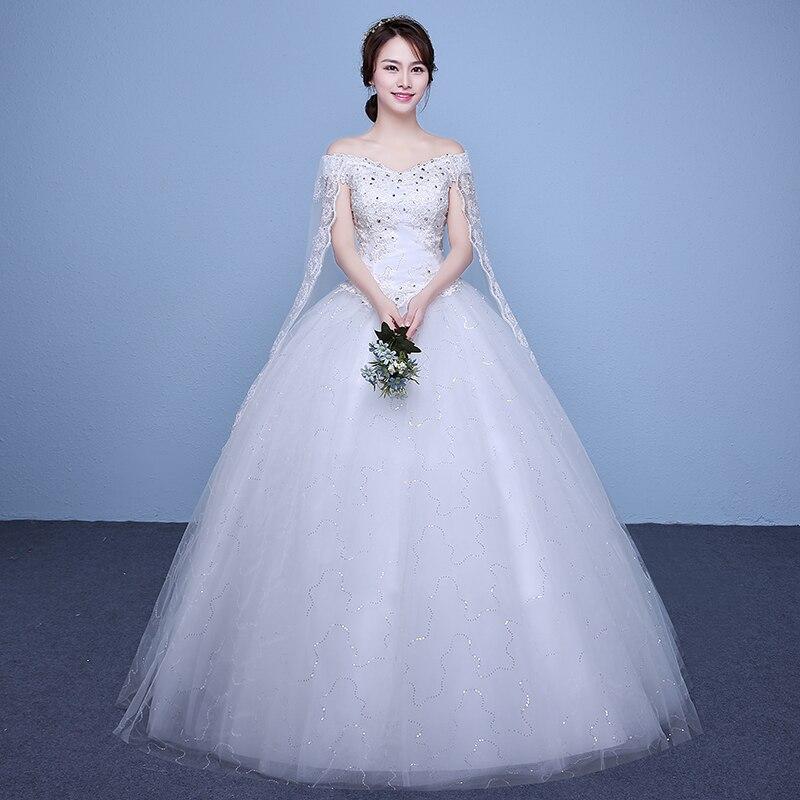 New 2017 Plus Size Boat Neck Short Sleeves Wedding Dresses Cheap Red White Bride Frock Custom Made Vestidos De Novia XN175