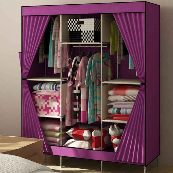 cabinet door seal product family curtain cloth cover simple dust cloth wardrobe storage compartment can hang clothes closet