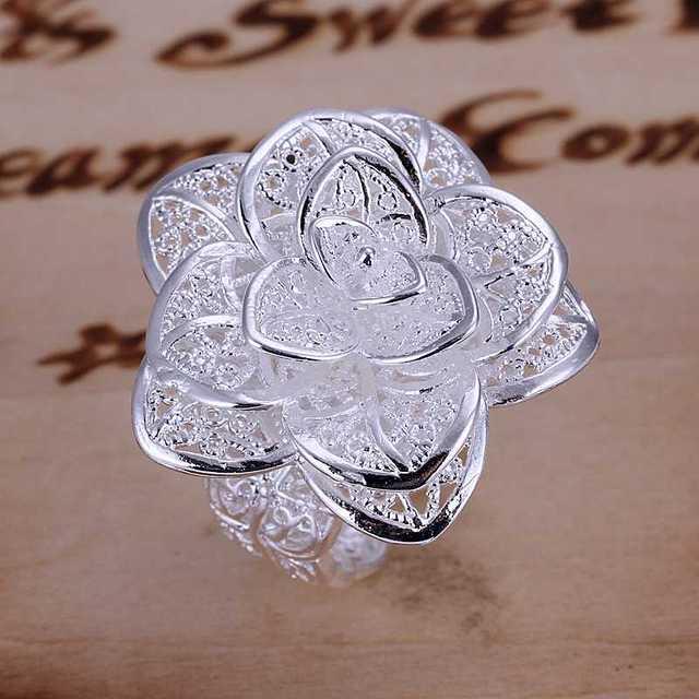 Commercio all'ingrosso 925 stamp jewerly placcato argento anelli per gli uomini